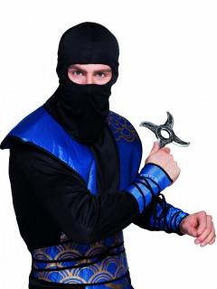 Ninja-Stern Kunststoff-Stern silber-grau