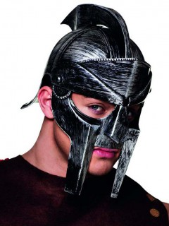 Gladiator Römer Helm für Erwachsene silber