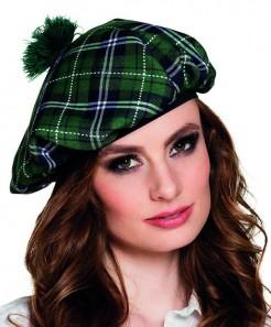 Barett Mütze für Erwachsene Schotte grün