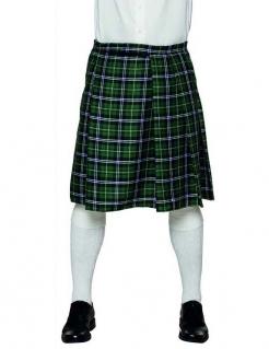 Schottischer Kilt Schottenrock für Herren grün-schwarz-weiss