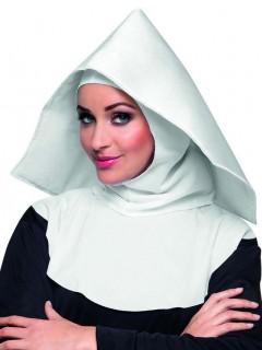 Kloster Nonnen Haube Kostümzubehör für Erwachsene weiss