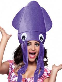 Lustige Tintenfisch Mütze für Erwachsene lila