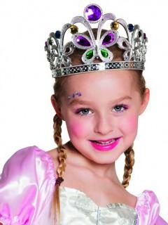 Krone Diadem mit Schmetterlingen für Kinder bunt