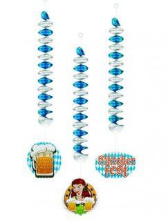 Oktoberfest Spiralen Hängedeko 3-teilig