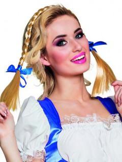 Zöpfchen Oktoberfest mit Schleifen blond-blau