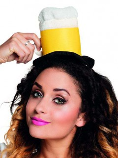 Lustiger Mini Hut Bierglas für Erwachsene schwarz-gelb-weiss