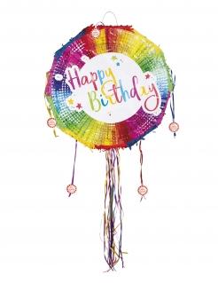 Happy Birthday Piñata Partyzubehör bunt 40cm
