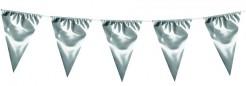 Fahnen Girlande Wimpelkette silber 10m