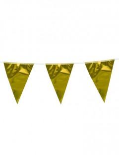 Wimpelkette Girlande gold 10m