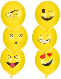 Ballons Imoji 6 Stück gelb
