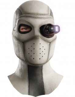 Suicide Squad™ Deadshot Maske mit Licht grau