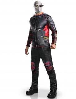 Deadshot-Kostüm aus Suicide Squad rot-schwarz