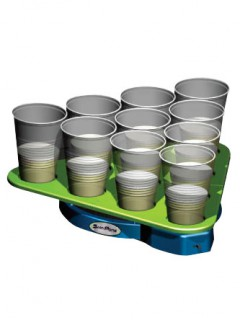 Head Rush Spin Pong Party-Spiel grün-schwarz 44x39x5cm