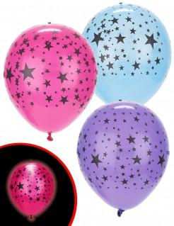 Luftballons LED Illooms 5 Stück Sterne bunt