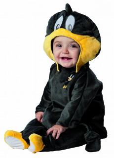 Looney Tunes™ Daffy Duck™ Babykostüm schwarz-gelb