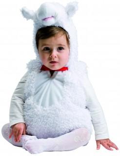 Süßes Schaf-Kostüm für Babys weiss