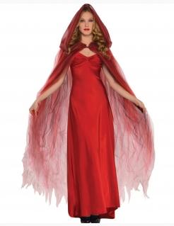 Umhang mit Kapuze Vampir-Umhang Halloween-Accessoire rot 120 cm