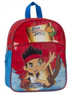Jake und die Nimmerland Piraten - Kinderrucksack rot-blau