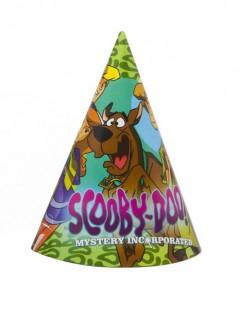 Scooby Doo™ Partyhüte Lizenzware 4 Stück bunt 16cm