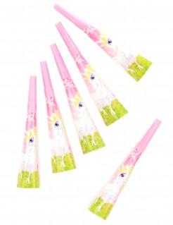 Einhorn Partytröten Kindergeburtstag 6 Stück bunt 20cm