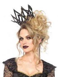 Dunkle Königin-Krone Damen schwarz-gold