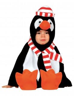 Süsser Pinguin-Kleinkindkostüm schwarz-weiss-orange