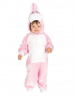 Häschen-Kostüm für Babys, rosa-weiß