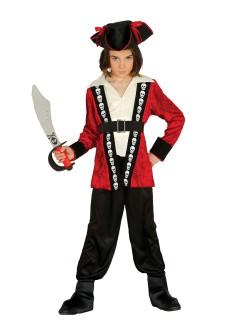 Piraten-Jungenkostüm mit Totenköpfen