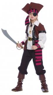 Piratenkostüm für Jungen rotbraun