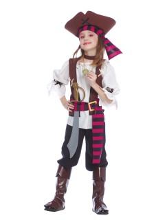Piraten Kinderkostüm schwarz-weiss-rot
