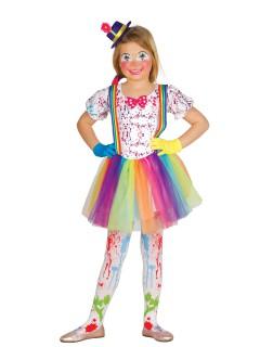Clown-Mädchenkostüm Zirkus bunt