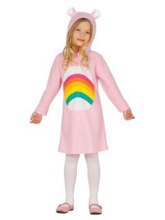 Regenbogen-Bär Kinderkostüm rosa-bunt