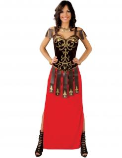 Elegantes Damen-Kostüm Gladiatorin - braun/rot