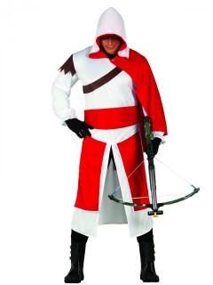 Söldner der Finsternis - Herren-Kostüm - rot-weiß