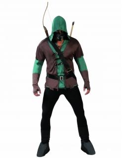 Mittelalter Bogenschütze Kostüm Jäger grün-braun