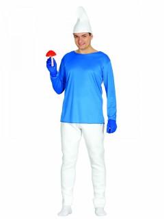 Blauer Zwerg Karnevalskostüm weiss-blau