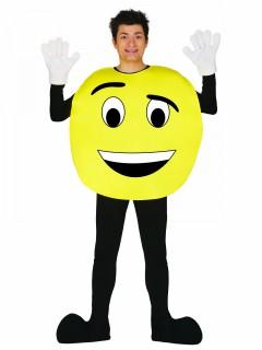 Emoticon-Erwachsenenkostüm schwarz-gelb