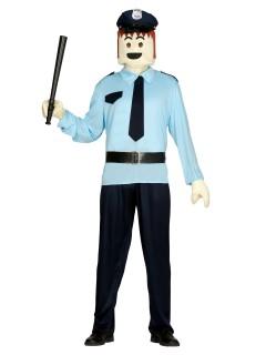 Polizei-Spielfiguren-Kostümset 3-teilig bunt
