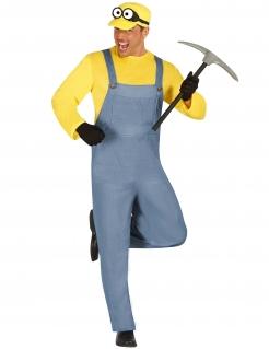Gelbe Zeichentrickfilm-Figur Herrenkostüm gelb-grau