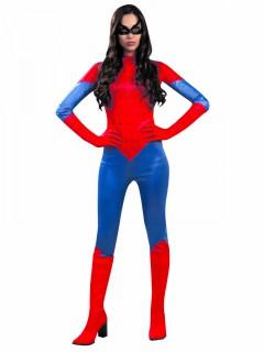 Originelles Spinnenkostüm für Damen - rot/blau