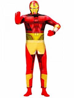 Superheld Kostüm für Herren rot-gelb