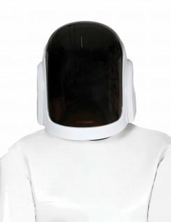 DJ-Helm Disko-Maske weiss-schwarz