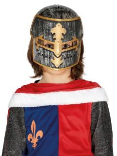 Kinder-Gladiatorenhelm Ritterturnier-Helm Kostüm-Accessoire grau-gold
