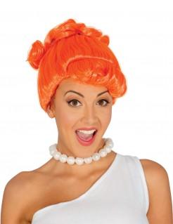 Steinzeit-Damenperücke orange