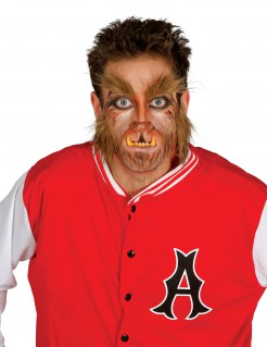 Werwolf-Accessoires Bart und Augenbrauen braun