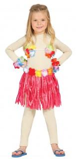 Hawaii-Set für Kinder pink-bunt