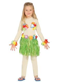 Hawaii Kostüm für Mädchen bunt