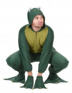 Frosch-Herrenkostüm Tierkostüm grün-weiss