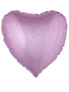 Herzförmiger Folienballon 45 cm rosa