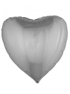 Herz-Folienballon 76 cm silber